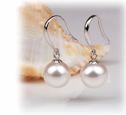 925 sterling silver Europe and the United States wind earrings pearl earring female earring the pendants(China (Mainland))