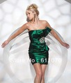 Free shipping Color size can be customized Fashion sexy Beading Green Cocktail Dresses PL2062