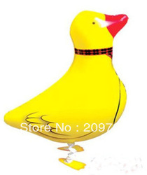 20Pcs/Lot Free Shipping Duck Pet Mylar Balloon Animal Design Happy Birthday Party Baby Shower WBA0010(China (Mainland))