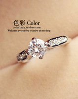 hot selling 18k gold plated jewelry fashion bride accessories high quality crystal ring