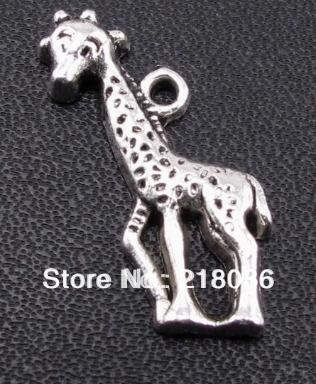 HOT 50pcs Tibet Silver Giraffe Charms DIY Metal Jewelry 26*10mm A368(China (Mainland))