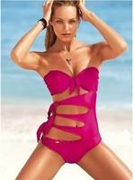 Pierced sexy bathing suit bikini gather swimsuit