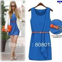 free shipping Summer ladies' dress evening dress sleeveless chiffon party dress ol elegant slim female 2012 autumn