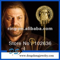 The Game of Thrones Gold Tone Hand of The King Brooch Pin