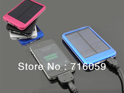 High Quality 5000MAH solar energy charger portable solar battery charger External Battery with CE/ROHS/FCC free shiping(China (Mainland))