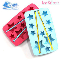Five-pointed star style ice box diy ice cube tray popsicle mould