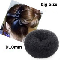 Wholesale 24pcs/lot Hair bun donut ring shaper Hair roller Styler maker tool Large size D10cm 15g hair bun roller Free Shipping
