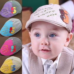 Hot Sale! 2013 New Arrival Spring baby 100% cotton hat child sun hat baby baseball cap pocket hat for 6-20 months 5 colors(China (Mainland))