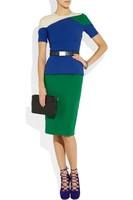 Free Shipping Fashion classic color block decoration slim waist formal ol formal dress clothing skirt km314