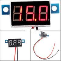 New Mini Digital Voltmeter 3.3-30V Red LED Vehicles Motor Voltage Panel Meter
