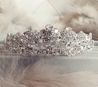 Excellent !!! Free shipping Bridal Multi-layer Austrian Crystal Rhinestone Silver Wedding Prom Party Tiaras Crowns accessories