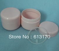 Free Shipping Wholesale 100G Pink Plastic Cosmetic Cream Jar,Plastic PP Cream Jar, Cosmetic Cream Bottle Package