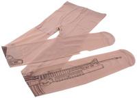 Sexy Machine Gun Tattoo Transparent Pantyhose Stockings Tights