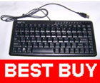 USB Slim 88-Keys Portable Mini Keyboard for Desktop PC