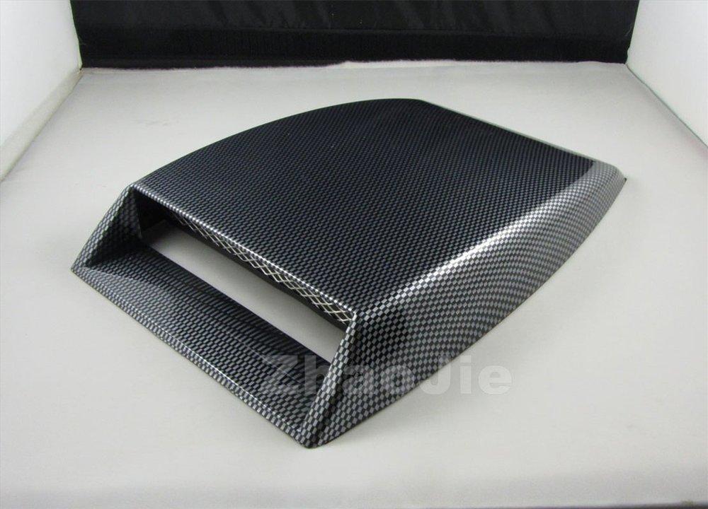 Mini car Air Flow Intake hood Scoop Vent Bonnet Cover decorative fake carbon fiber surface(China (Mainland))