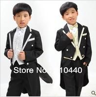 2013 autumn winter 6 pcs male children's tail set size 2 4 6 8 10 12 14 fashion casual suit set formal dress boys wedding cloth