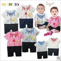 New !baby romper Cute bear rabbit animal model of male and female infant clothing jumpsuits 6pcs/ lot  free shipping