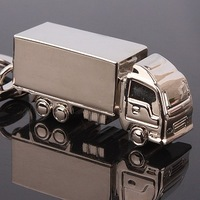 2013 Truck Car Key Ring Mini Chain Classic 3D Solid Keychain New Cute Creative Gift 3*1.2*1.7CM  free shipping