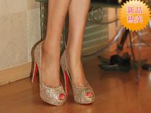 gold shoes wedding promotion