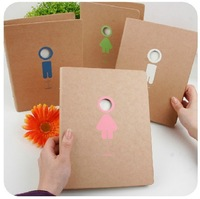 Small Office People Series A5 Loose-leaf Organizer Notepad Korean Stationery Notebook Hard Cover Diary Book