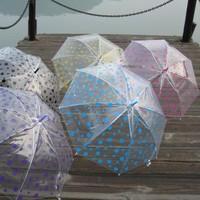 Advertising umbrella dot polka dot sploshes transparent umbrella long-handled umbrella transparent umbrella sun protection