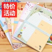 wholesale 10pcs/lot Korea stationery letter pad cartoon envelope letter pad set
