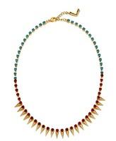 wholesale 10pcs/lot Korean yeh rivet color block gem short necklace