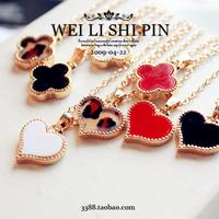 wholesale 10pcs/lot 4303 fashion accessories serena four leaf grass love necklace chain