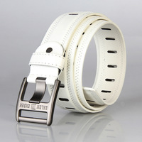 [ANYTIME] Fashion decoration male strap fashion non-mainstream belt casual all-match belt white