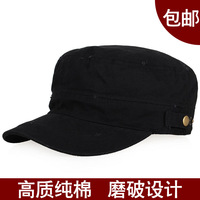 [ANYTIME] Autumn military hat male cadet cap cap women's hat black millinery
