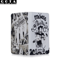 [ANYTIME] Cartoon doodle male wallet personalized long design wallet genuine leather