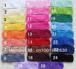 "12pcs1.5"" Crochet Stretch Headband Baby Infant Toddler Waffle headbands headwear Children Kid's Hair Accessories Free Shipping(China (Mainland))"
