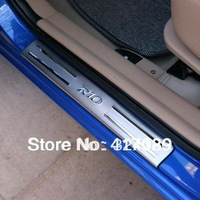 freeshipping KIA RIO stainless steel scuff plate door sill 4pcs/set car accessories for KIA RIO