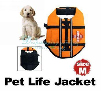 Wholesale Night Reflective Band Size M Pet Saver Dog Life Preserver Jacket Safety Designer