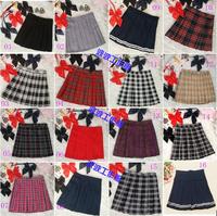 Preppy style japanese style school uniform plaid pleated skirt short skirt bust skirt st20