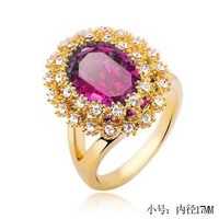 2013 Jewelry dinner crystal accessories william banquet exquisite oval gem ring s344 free shipping