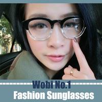 clear lens glasses optical frames eyeglasses korean glasses half transparent half black frame sunglasses women brand designer