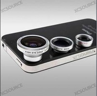 3in1 Fisheye Lens + Wide Angle + Micro Lens photo Kit Set for iPhone 4 4S 5 I9100