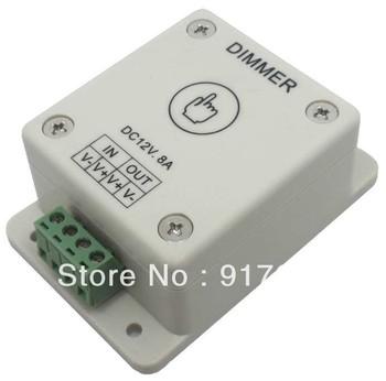 Free Shipping led flexible strip light controller - led light touch white dimmer DC 12V 8A !