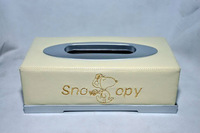 Auto Car Snoopy Facial Tissue Box Paper Towel Case Napkin Holder Container 1pc
