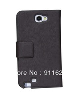 2 pcs/lot&amp;Free shipping  HOCO leather cover case for samsung note 2 N7100