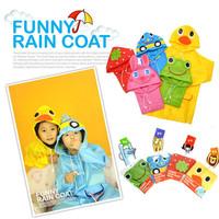 Linda cartoon animal style child raincoat child poncho 5-color