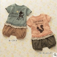 2012 Women onta squirrel one piece romper short-sleeve romper 2