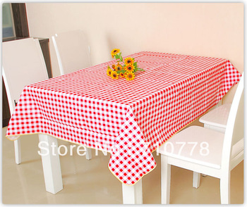free shipping  waterproof oil dining table cover  fabric square  plastic pvc table cloth(120x152CM)