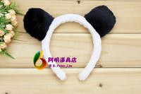free shipping 6pcs/lot 25g cartoon animal headband hair accessory masquerade party props black bear ear hair bands headband