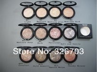 12pcs/lot * hot sell* makeup mineralize skinfinish poudre de finition face powder 12 different color FREE POST SHIPPING