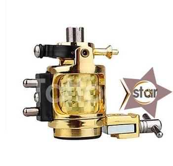 Golden Rotary Tattoo Machine Motor Gun Shader&Liner