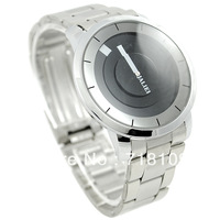 Silver Black PAIDU Quartz Wrist Watch Turntable Dial Mens Clock Analog Gift