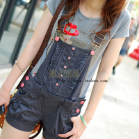 Free Shipping  summer bear preppy style Women bib pants shorts
