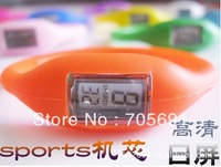 Free shipping fashion Watches Silicone Children KIDS watch colors Silicon Jelly Rubber Ladies Fashion 1ATM Wholesale LOT